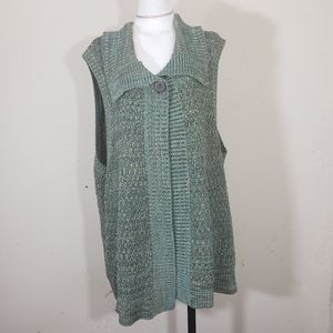 Westbound knitted cardigan vest 100%cotton  2X